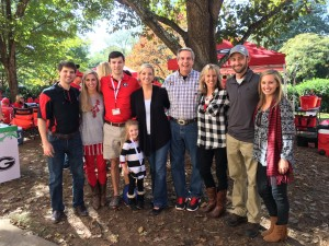 Dr Stevens and his family at a University of Georgia football game
